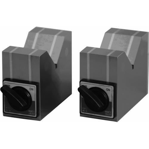 V-blok magnetický, oboustranný (pár), šířka 70 mm