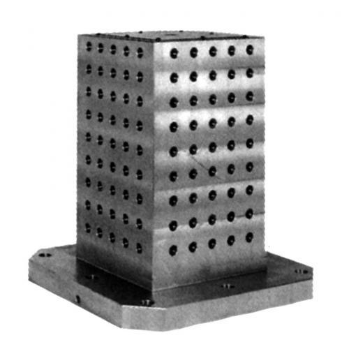 Ustavovací mřížková kostka 800 x 800, otvory mřížky Ø 16