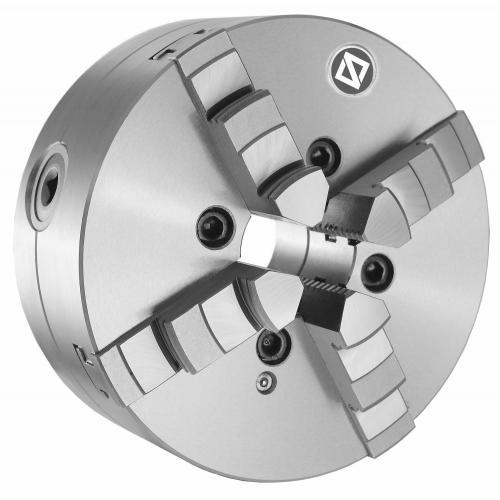 """Čtyřčelisťové sklíčidlo 160 mm, ocel, DIN 55027-5"""", jednodílné čelisti"""
