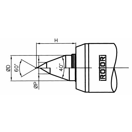Otočný hrot sindikací tlaku, 60°/40°, běžné soustružení, VDI 40