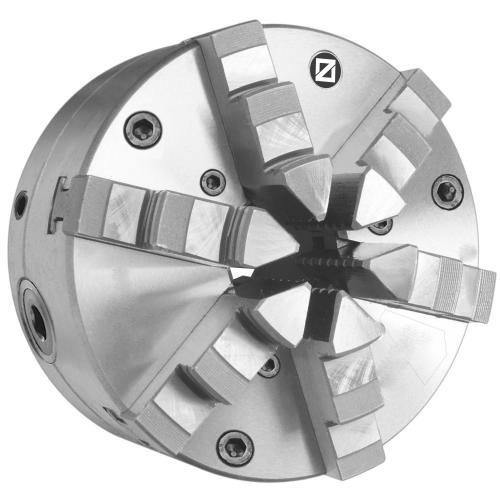 Šestičelisťové sklíčidlo srad. nastavením 125 mm, ocel, válcové upnutí, jednodílné čelisti