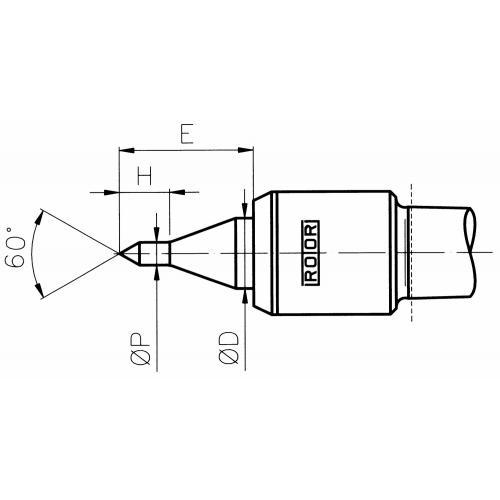 Otočný hrot sindikací tlaku, štíhlá špička, běžné soustružení, válec 32 mm
