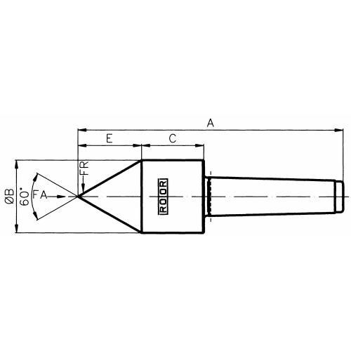 Trubkový trn, 60°, MT 3, typ ST