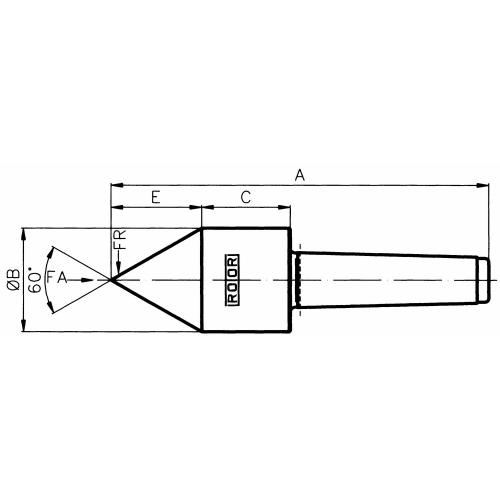 Trubkový trn, 60°, MT 4, typ SU