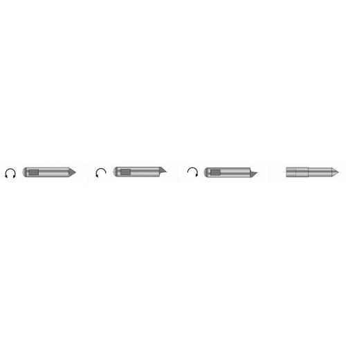 Unášecí kolík (kusový) typu S2 pro čelní unašeč typu A