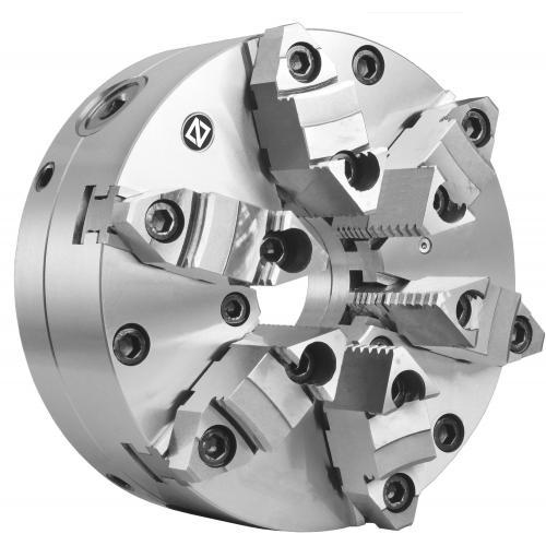 Šestičelisťové sklíčidlo srad. nastavením 200 mm, ocel, válcové upnutí, dvoudílné čelisti