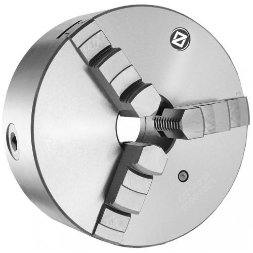 Tříčelisťové sklíčidlo 100 mm, ocel, DIN 6350, jednodílné čelisti, válcové upnutí