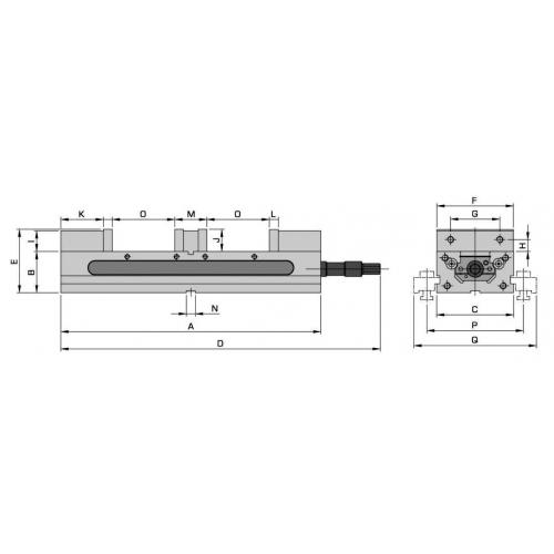 Dvojitý svěrák mechanický, JW 150