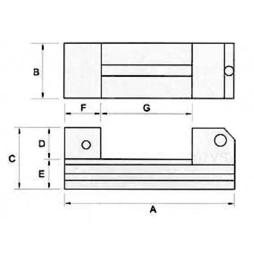 Brousicí a erozní svěrák, nekorozivní, JW 50 mm