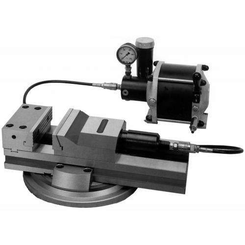 Stahovací svěrák CAMINATI, pneum./hydr. JW 150