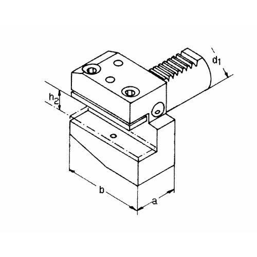 Držák radiálního nástroje pravý, krátký B1 – 50 x 32