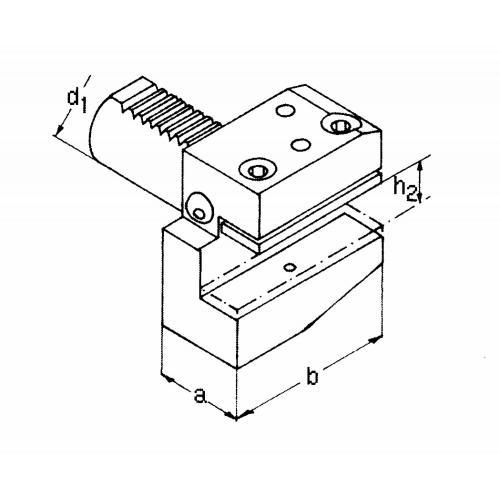 Držák radiálního nástroje levý, krátký B2 – 16 x 12
