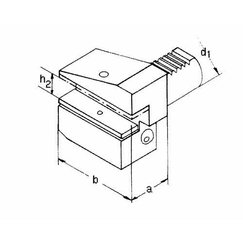 Držák radiálního nástroje pravý, obrácený B3 – 50 x 32