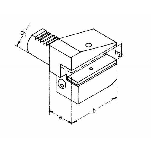 Držák radiálního nástroje levý, obrácený B4 – 16 x 12