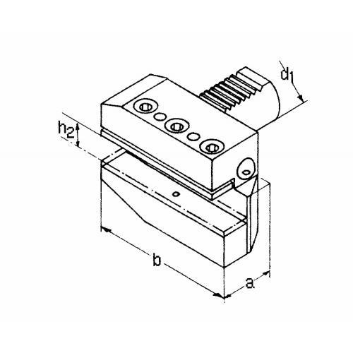 Držák radiálního nástroje pravý, dlouhá verze B5 – 50 x 32