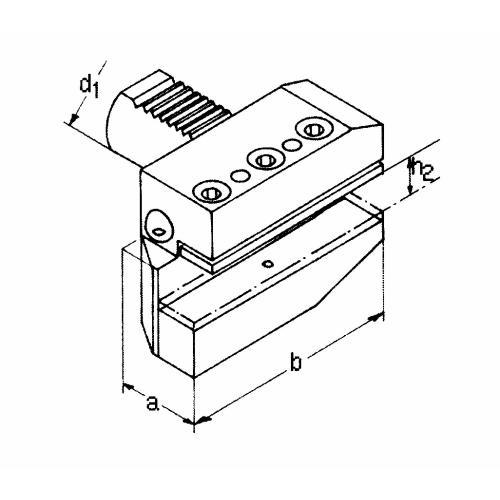 Držák radiálního nástroje levý, dlouhá verze B6 – 40 x 25