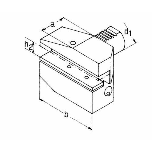 Držák radiálního nástroje pravý, obrácený, dlouhá verze B7 – 50 x 32