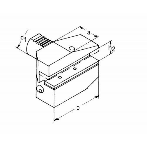 Držák radiálního nástroje levý, obrácený, dlouhá verze B8 – 50 x 32