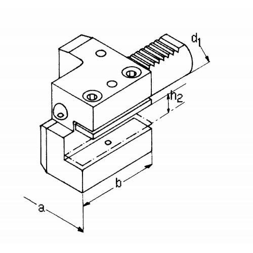 Držák axiálního nástroje pravý, krátký C1 – 25 x 16