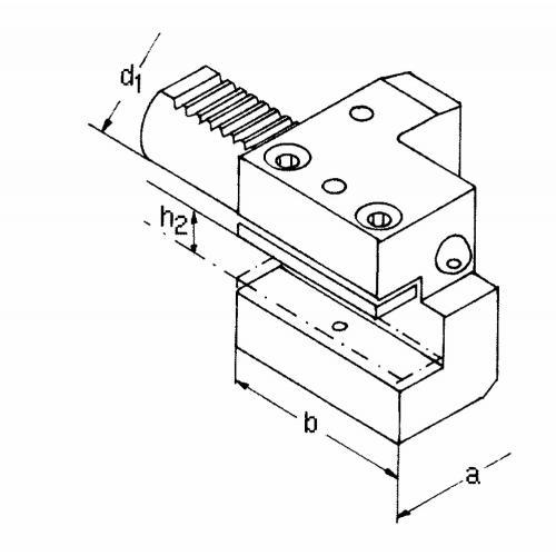 Držák axiálního nástroje levý, krátký C2 – 60 x 32