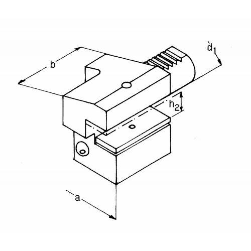 Držák axiálního nástroje pravý, obrácený, krátký C3 – 60 x 32