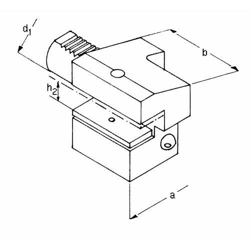 Držák axiálního nástroje levý, obrácený, krátký C4 – 25 x 16