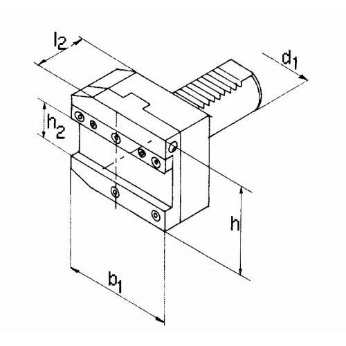 Držák upichovacího nástroje, pravý VDI 40 x 26