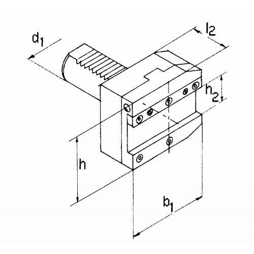 Držák upichovacího nástroje, levý VDI 50 x 32