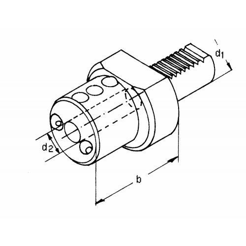 Držák vrtací tyče E2 – 50 x 25