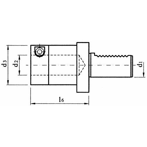 Držák vrtací tyče, drážkovaný E2S – 30 x 6