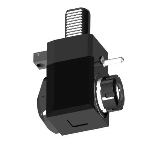 Nástroj spohonem, DIN 5482, úhlový, levý, VDI 40, ER 25, IC