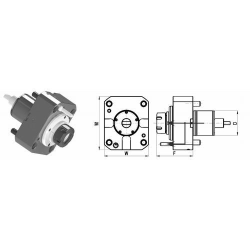 Držák nástrojů pro Mori Seiki, přímý, velikost 60, ER 32, IC