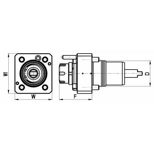 Držák nástrojů pro Nakamura, přímý, velikost 55, ER 25, IC