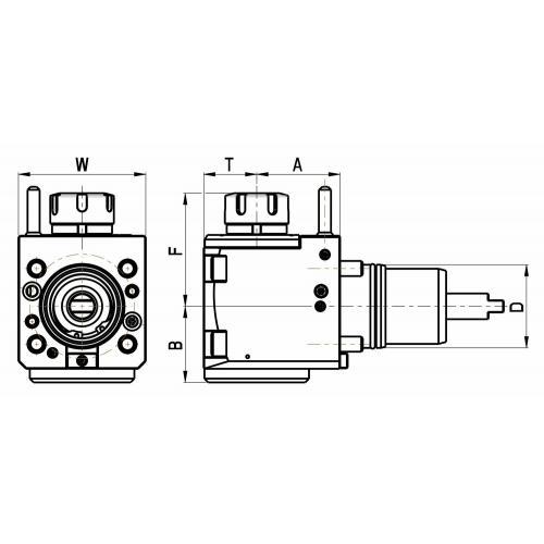 Držák nástrojů pro Nakamura, pravý, velikost 55, ER 25, IC