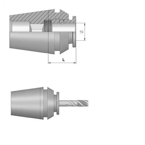 Závitovací kleština bez délkové kompenzace ER 40, Ø 8,0