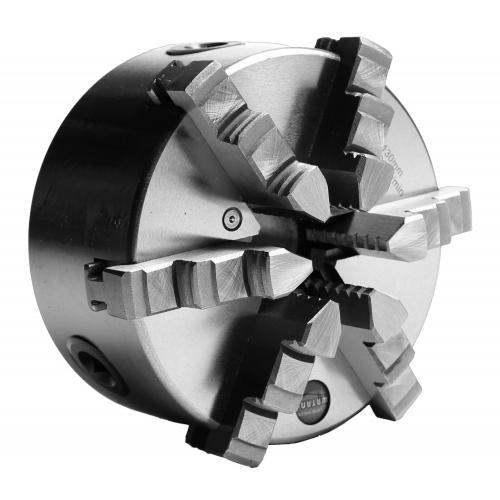 Šestičelisťové soustružnické klíčidlo MACK BASIC 130 mm, válcové upnutí, jednodílné čelisti, litina