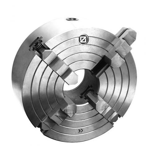 Čtyřčelisťové soustružnické sklíčidlo Wescott 200 mm, litina, válcové upnutí, jednodílné čelisti