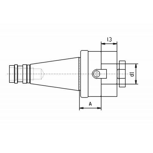 Držák čelní frézy DIN 2080, SK 40, Ø 16