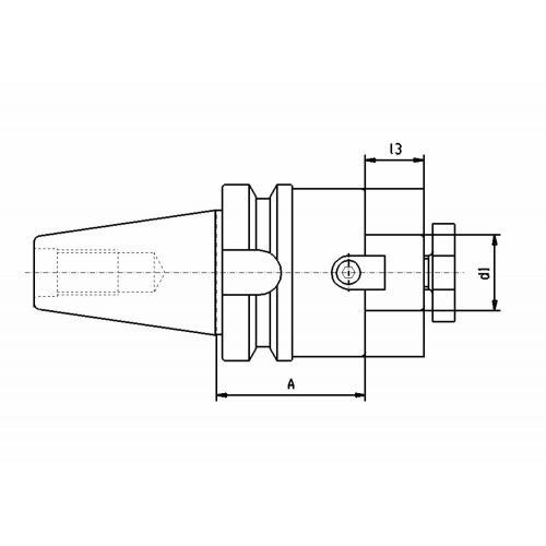 Držák čelní frézy MAS-BT 40, Ø 22 x 100