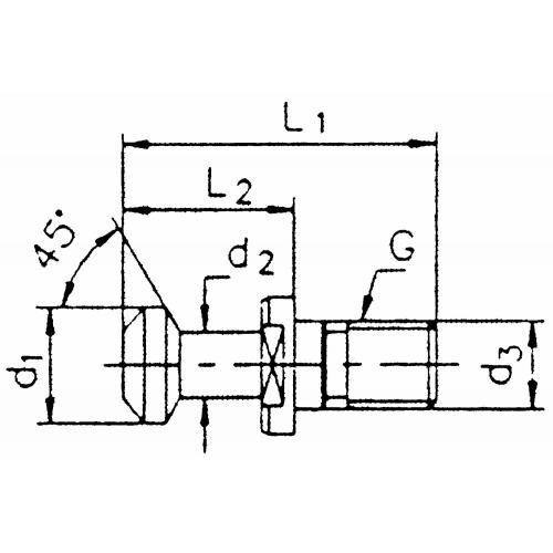 Upínací čep BT 50, 45° bez otvoru