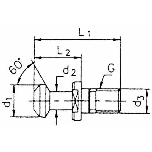 Upínací čep BT 30, 60° bez otvoru