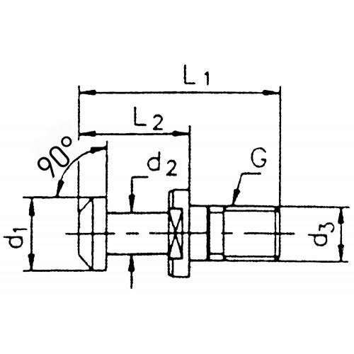 Upínací čep BT 50, 90° bez otvoru