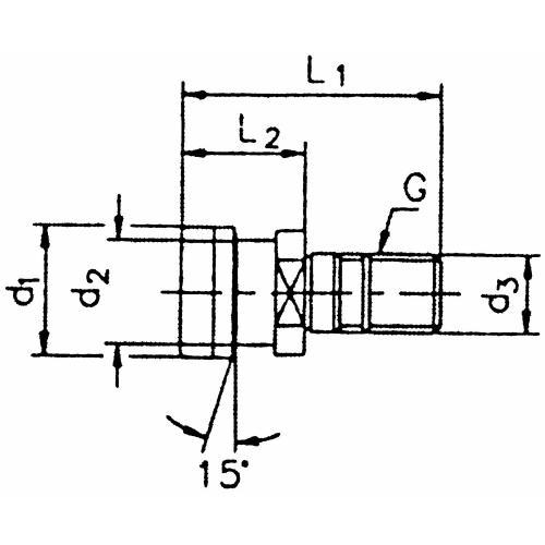 Upínací čep OTT, SK 40, bez vnitřního závitu