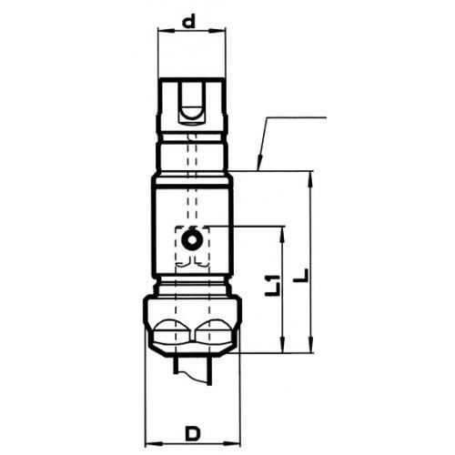 Dlouhá vložka pro synchronní závitovací sklíčidlo velikost 1, ER 16