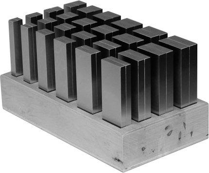 Sada paralelních podložek vdřevěném stojanu, velikost 125