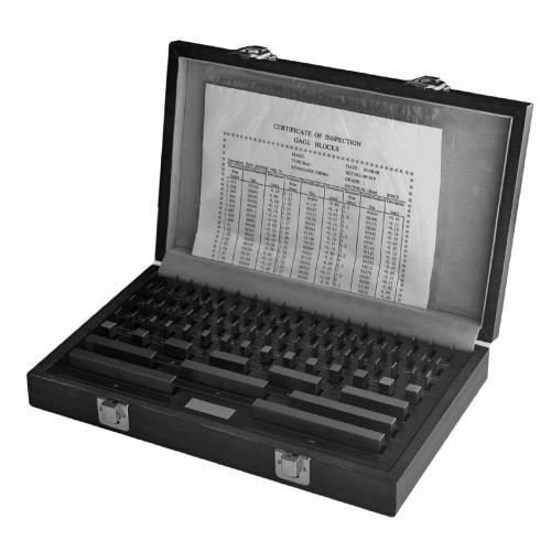 Sada měrných bloků, ocel, 0,5–100 mm, 103 ks, třída 0