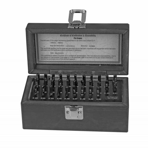 Sada kolíkových měřidel 0,2–0,5 mm, 31 ks