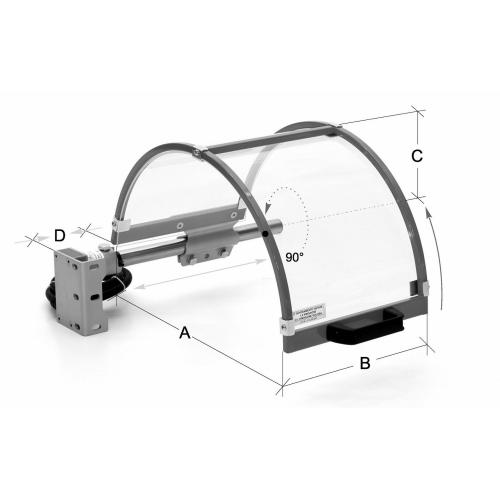 Ochranné kryty pro soustruhy FS 10 Ø 160–200 mm