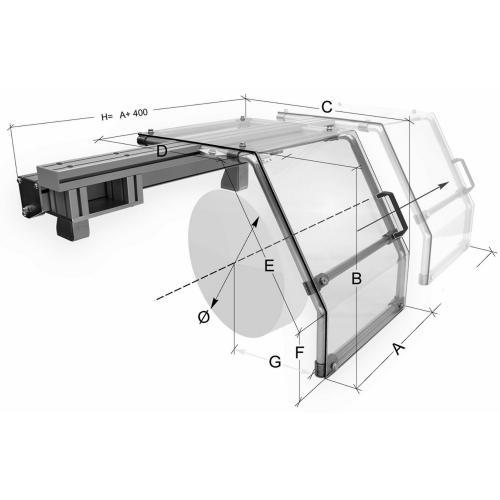 Ochranné kryty pro soustruhy FS 20 Ø 500–710 mm