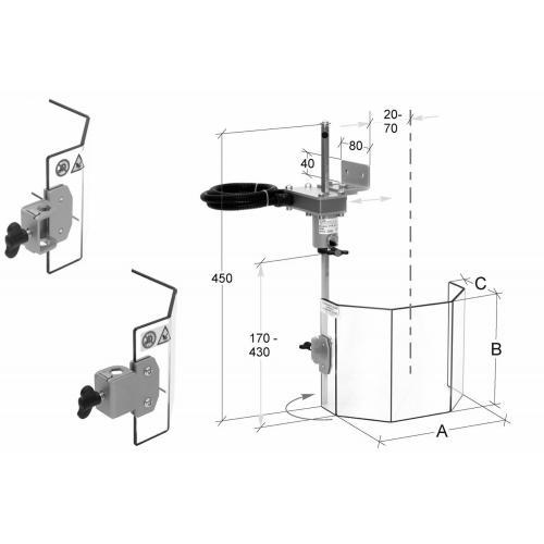 Ochranný kryt pro sloupové vrtačky 130 mm